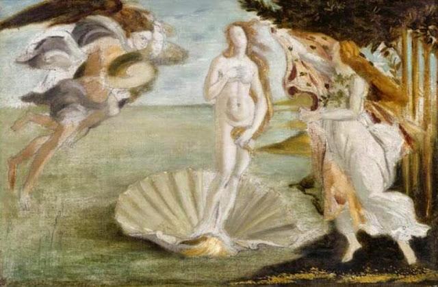 La Naissance de Vénus (d'après Botticelli), Gustave Moreau (1859)