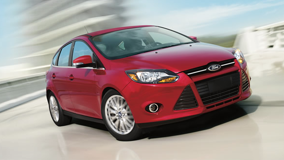 2014 Ford Focus red hatchback