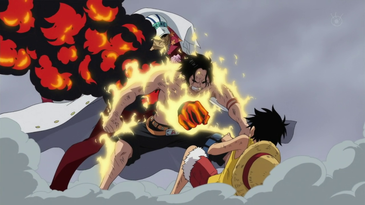 ace and luffy fighting wallpaper - photo #1