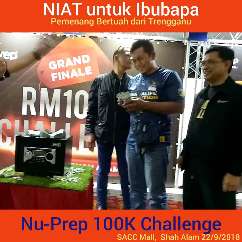 Congratulation!!! 100,000 Cash. Nu-Prep 100K Challenge