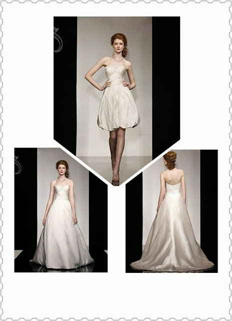 Satin Sweetheart A-line 2 in 1 Bridal Gown with Crisscross Bodice