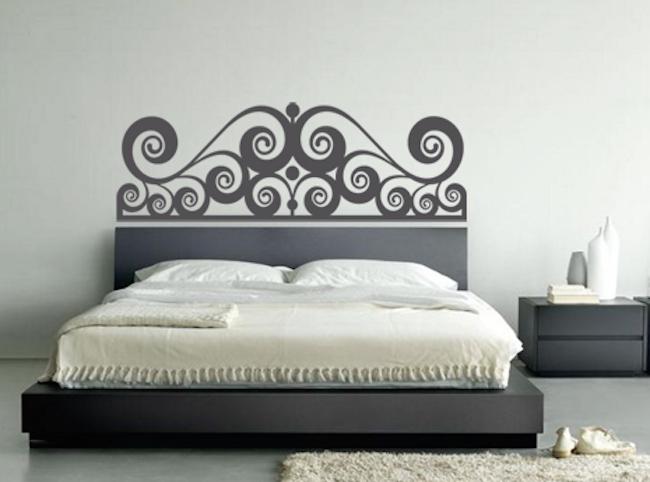 Stencil muro camera da letto stencil muro camera da letto parete su orologi da pareti foto e - Adesivi murali per camera da letto ...