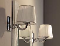 Новая коллекция мебели для ванной комнаты Акватон Венеция - светильники с плафонами