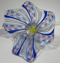 Hand Blown Glass Flower