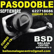 PASODOBLE EN SEPTIEMBRE, LOS VIERNES A LAS 20:15H, EN BSD BAILAS SOCIAL DANCE MÁLAGA CENTRO .