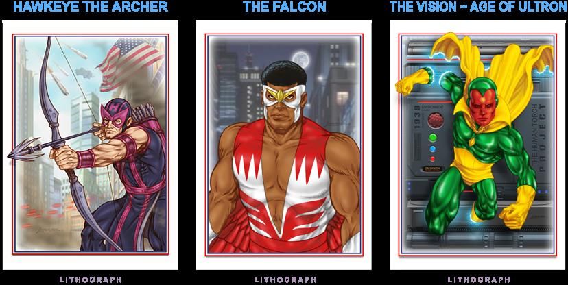 Hawkeye - Falcon - Vision