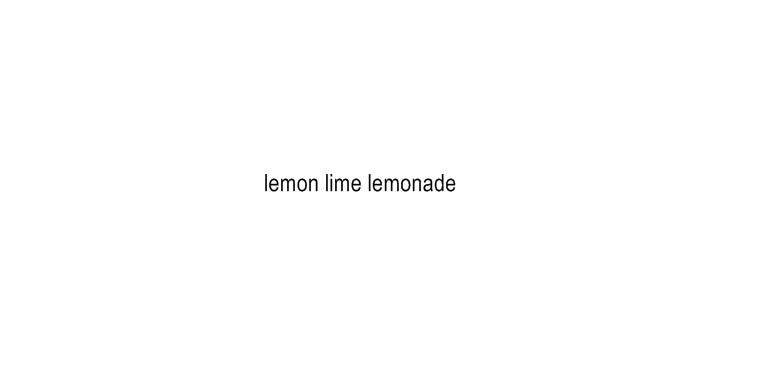 lemon lime lemonade