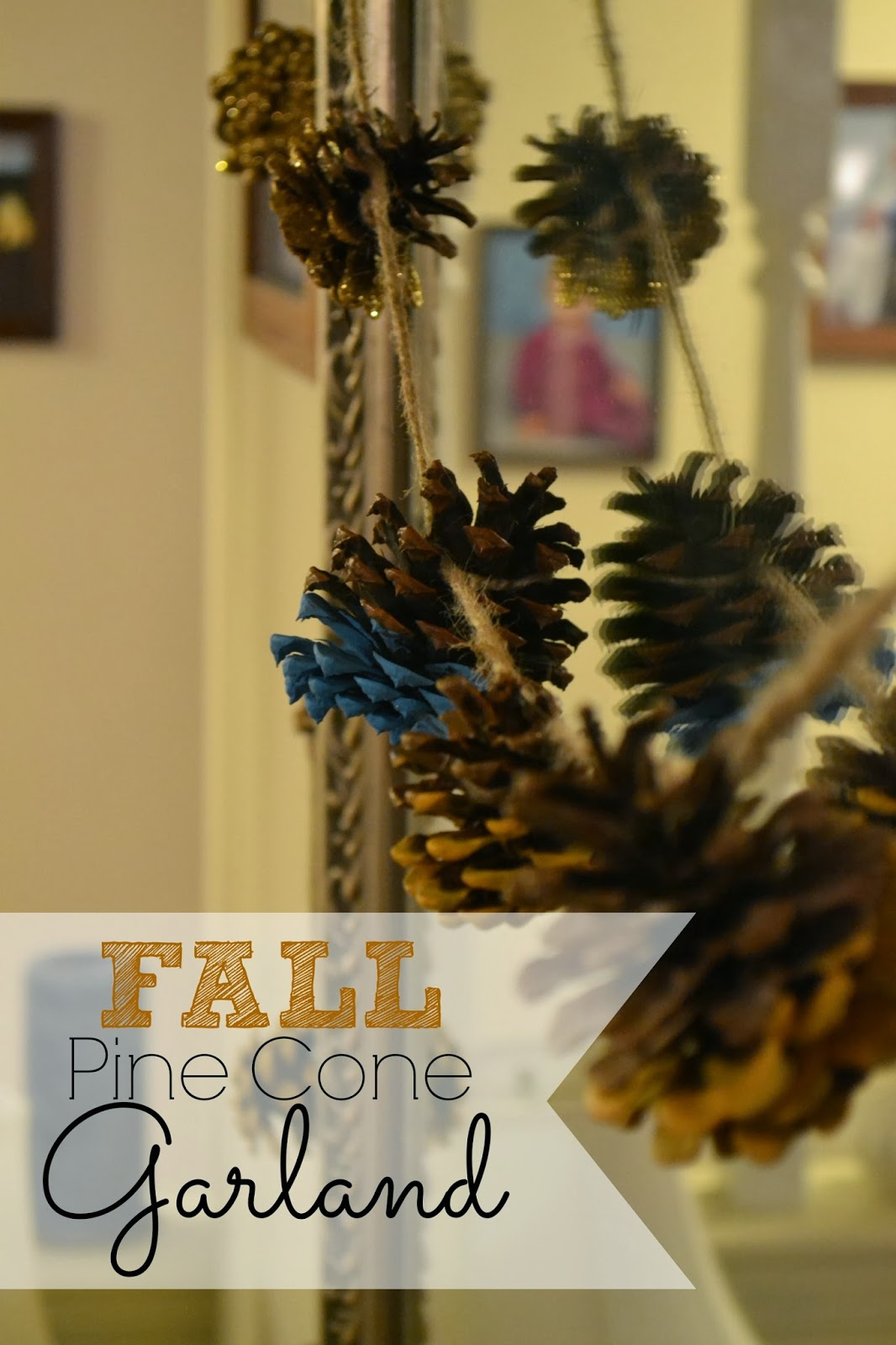 Polkadot fluff project kid friendly pine cone garland for Pine cone art projects