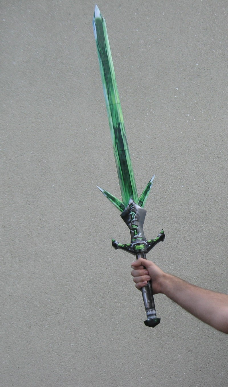 Morrowind Glass Longsword Papercraft