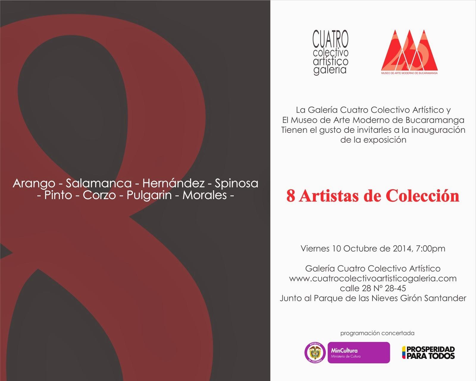 8 ARTISTAS DE COLECCIÓN