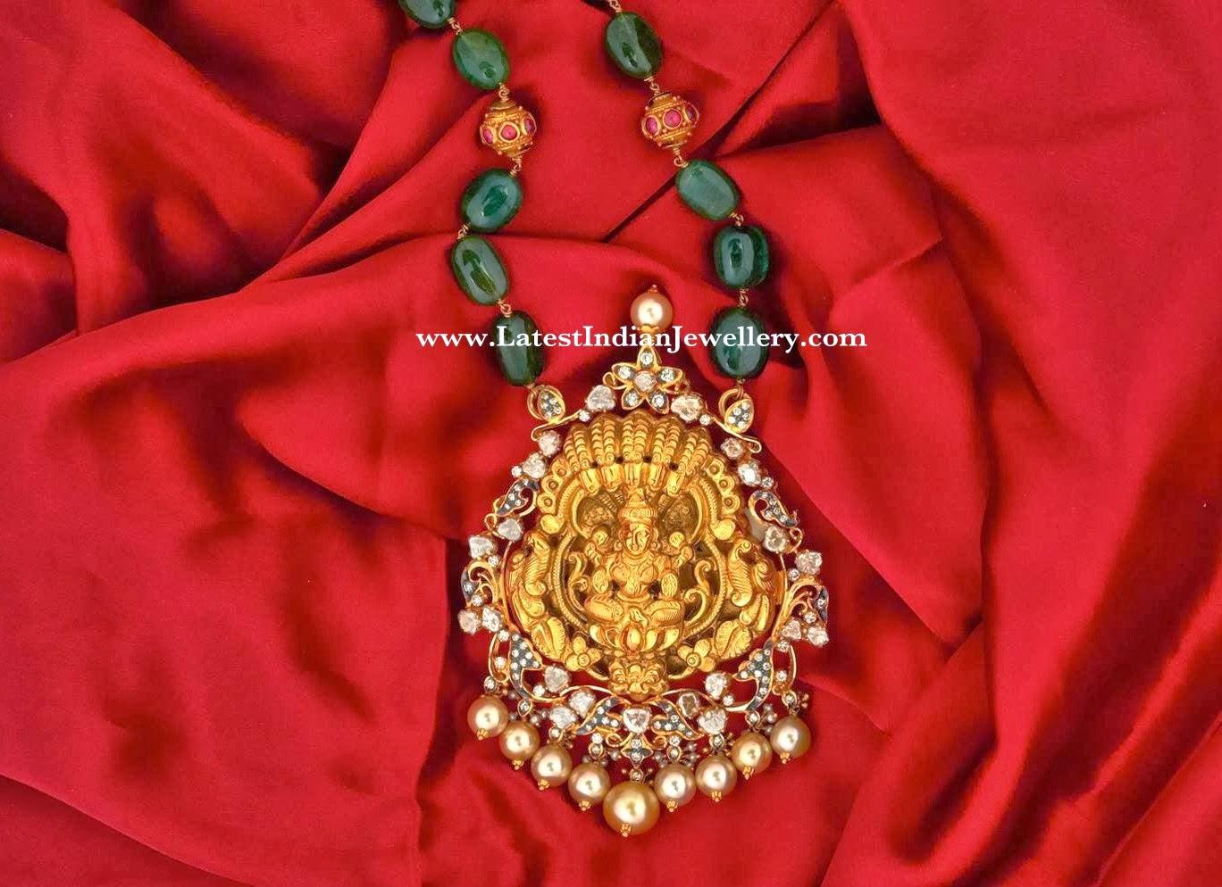 emerald beads lakshmi padakkam