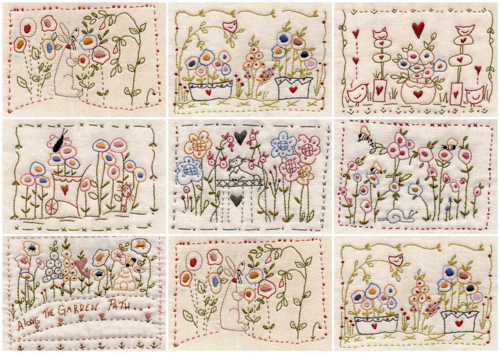 Theodora's stitching