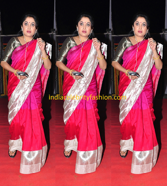 Ramya Krishnan in Simple Pink Saree