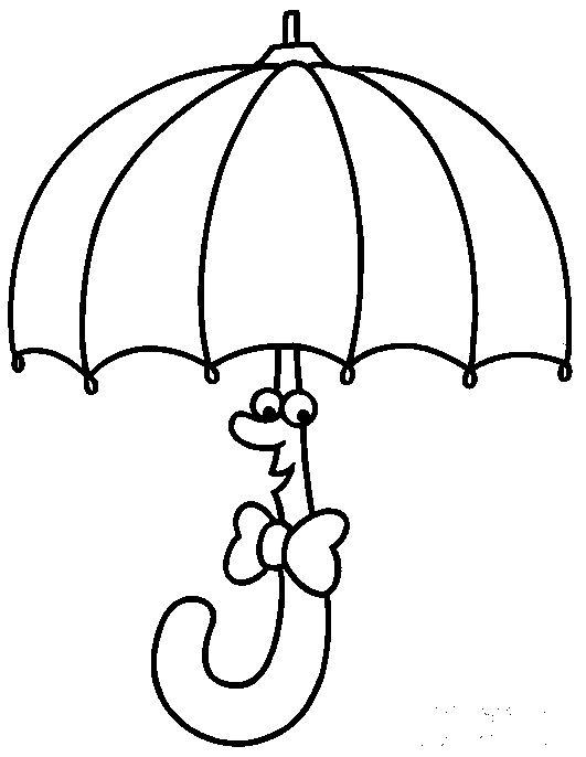 Dibujos para colorear: Dibujos de paraguas para colorear
