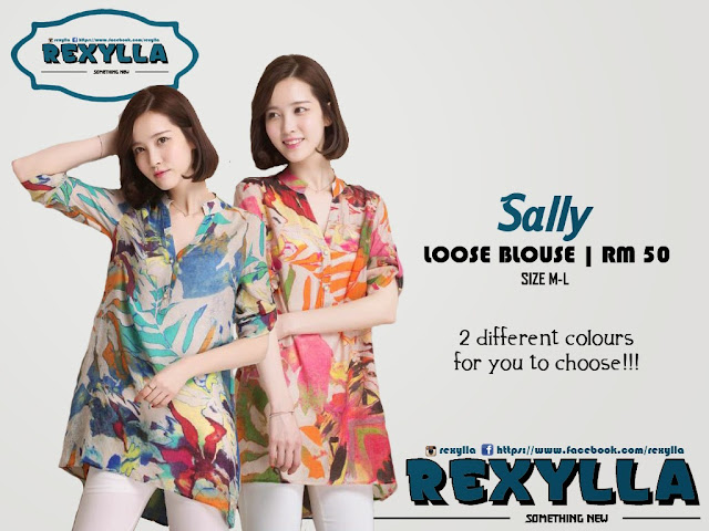 rexylla, loose blouse, printed blouse, sally collection
