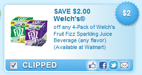Save on Welchs Fruit Fizz