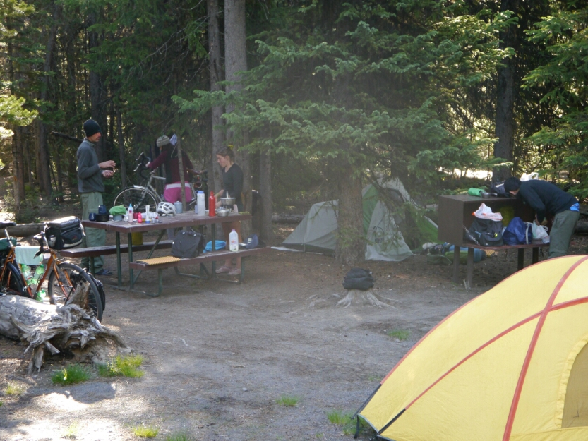 camping in Yellowstone