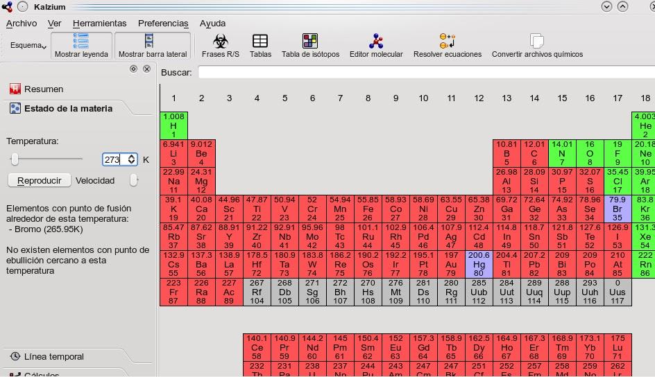 Aplicaciones educativas para porttiles de aula aplicaciones para kalzium consta de un panel de navegacin a la izquierda en rojo la vista de la tabla en azul que muestra los elementos de la tabla peridica y un urtaz Gallery