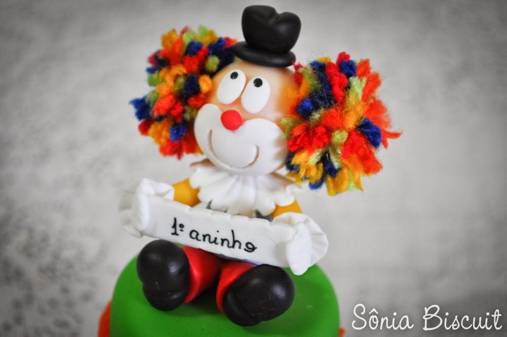 Festa Circo Lembrancinha Topo de Bolo Decoração Biscuit Palhaço Foca Leão Mágico Coelho Tubete Potinho