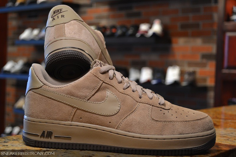 nike air force 1 low khaki suede