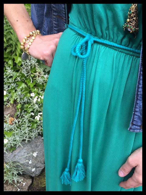 My Midlife Fashion, Flat Pointed Lace Ups, Boden, Denim jacket, Maxi dress, amilie maxi dress, lille lace up point, amanda jacket