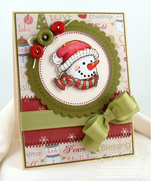 christmas for cards snow christmas  doll