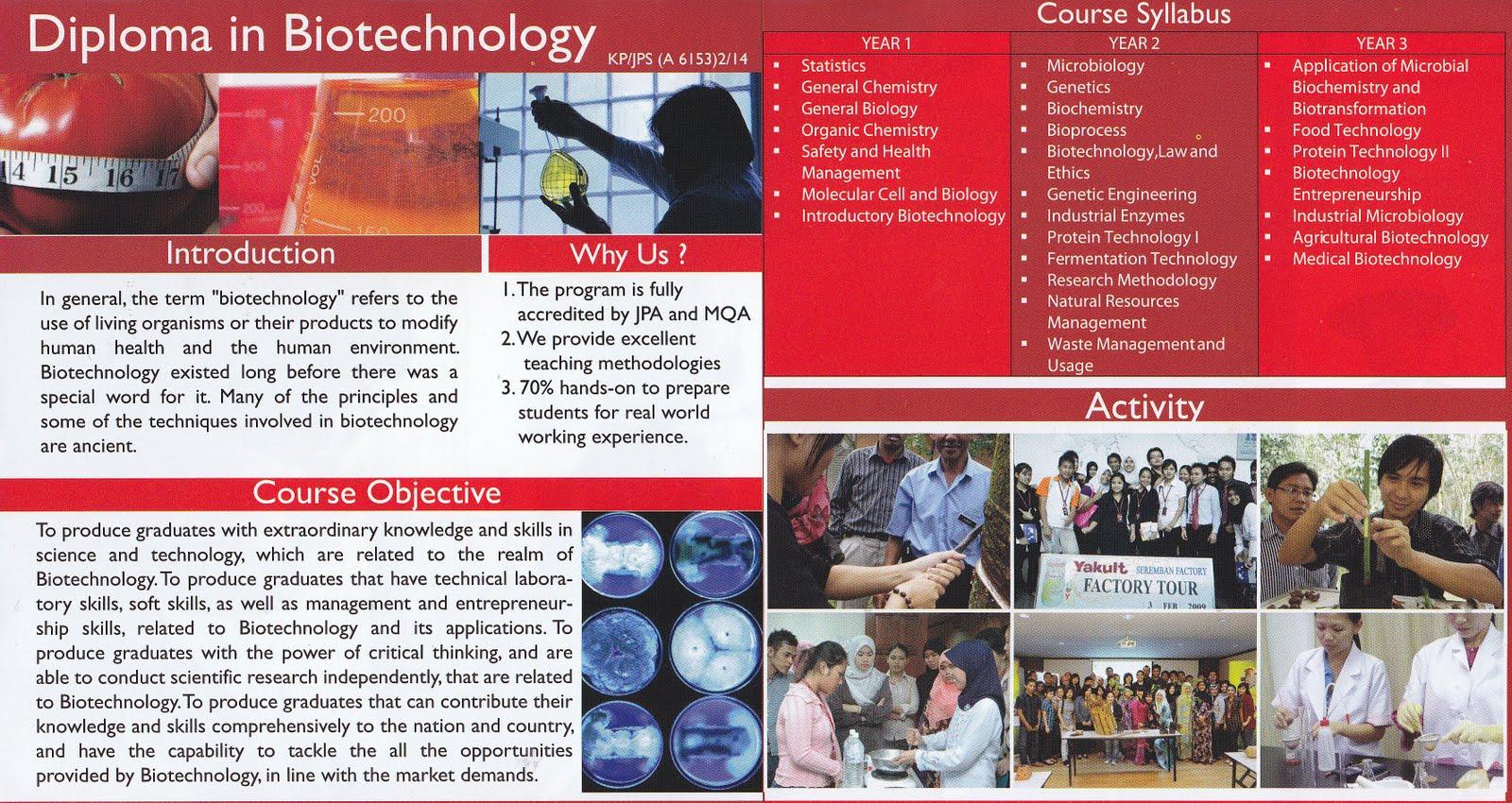 Program Uitm Diploma Bioteknologi Diploma In