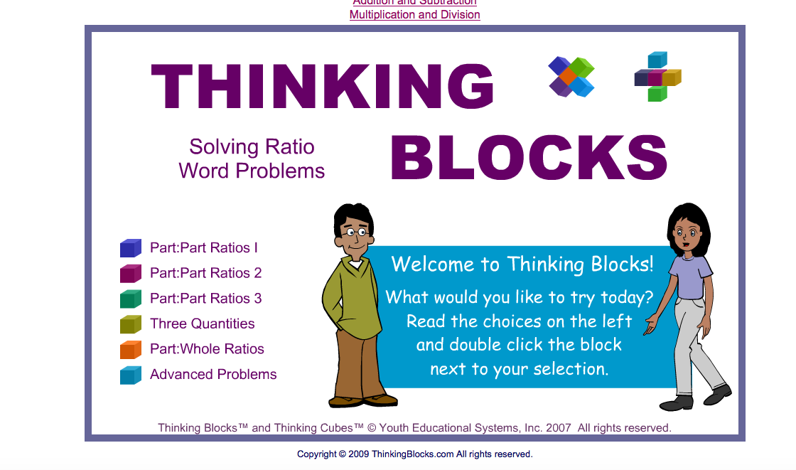 http://www.thinkingblocks.com/ThinkingBlocks_Ratios/TB_Ratio_Main.html