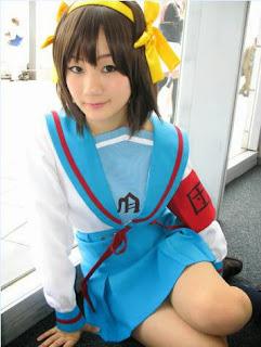 Koyuki cosplay as Haruhi Suzumiya