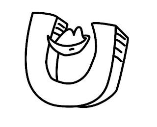 Alfabeto para colorir - Letra U colorir