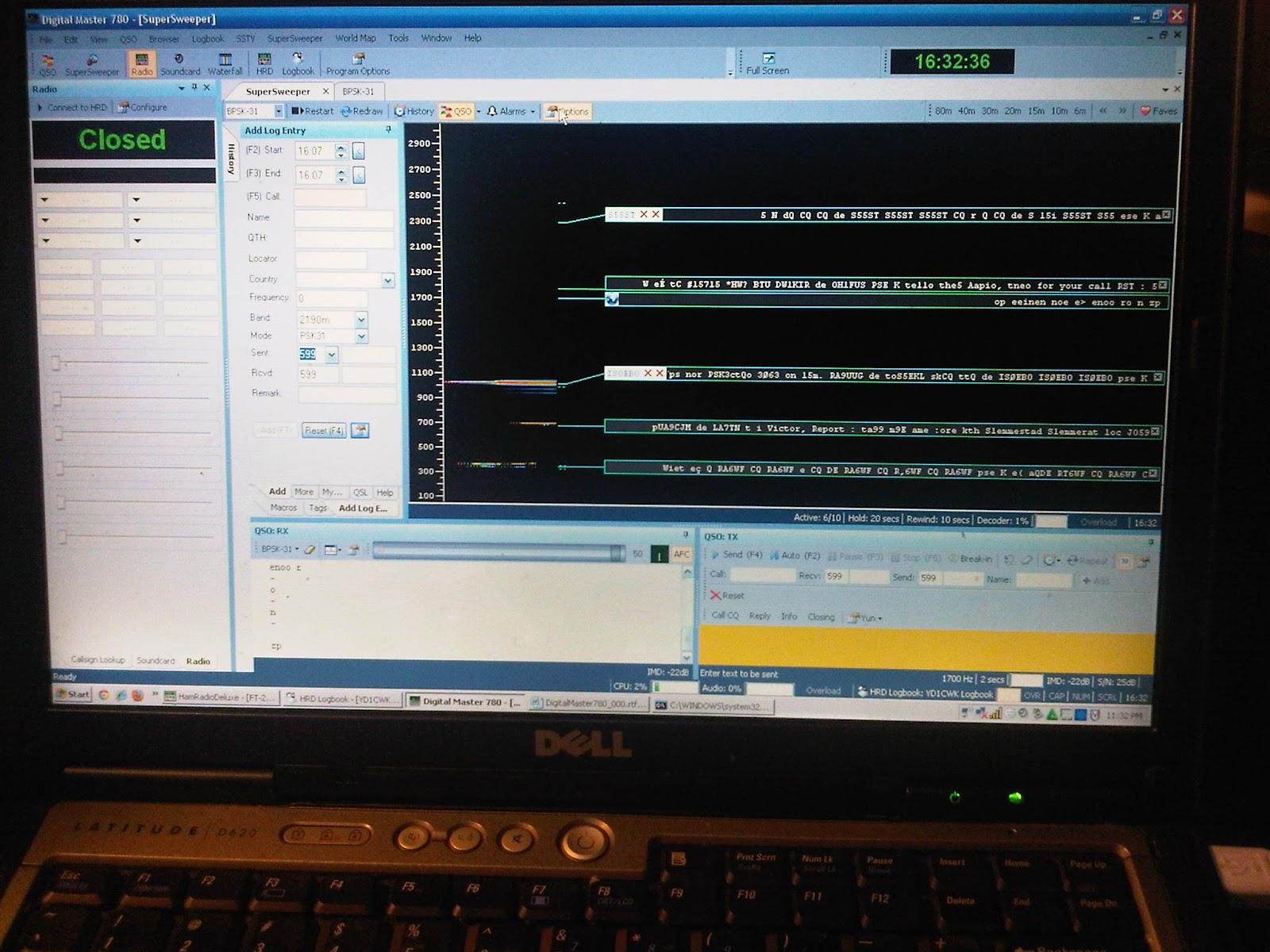 Masih di cari problemnya kenapa dengan Software DM780 radio tidak dapat berkomunikasi langsung via CAT line Sehingga untuk saat ini update Logbooknya masih
