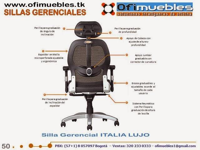 Sillas gerenciales y presidenciales sillas para oficina for Sillas ergonomicas precios