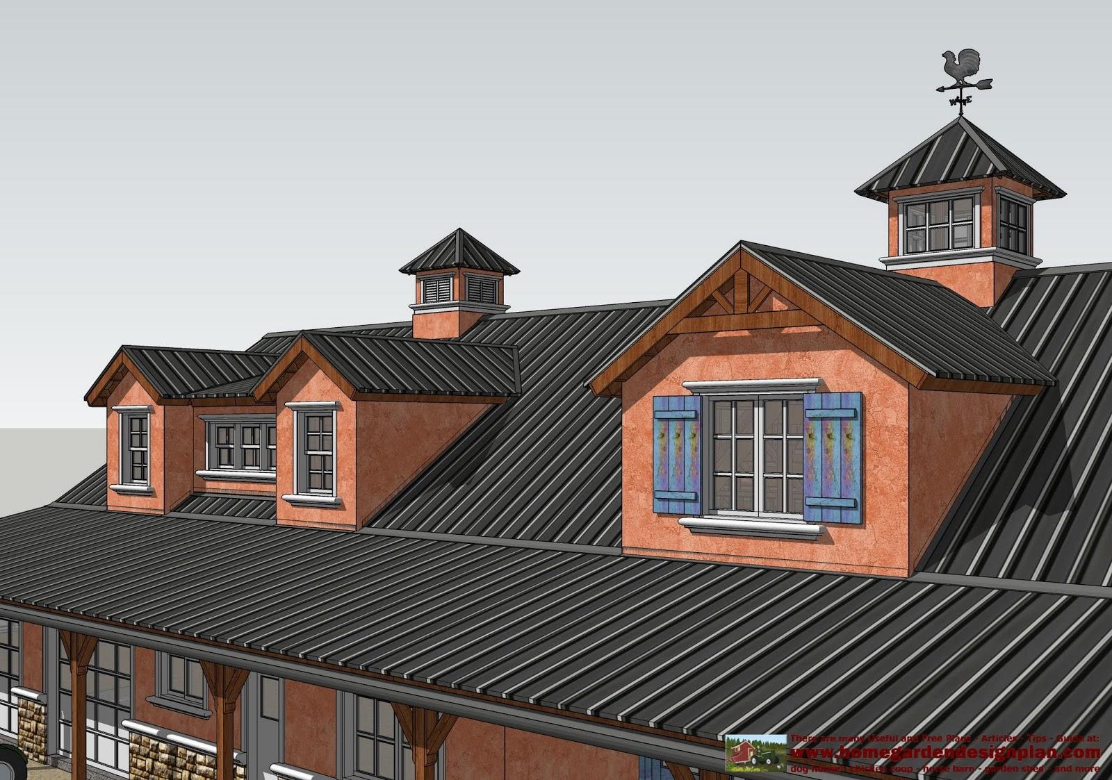 Home garden plans hb100 horse barn plans horse barn for Horse barn designs free