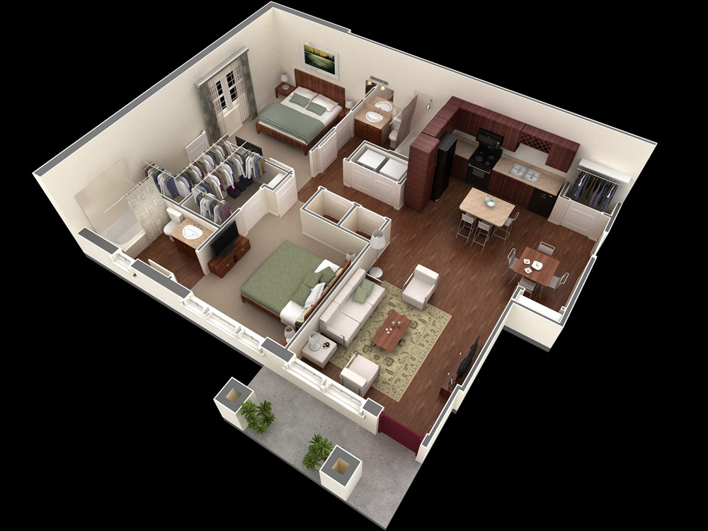 50 3d floor plans lay out designs for 2 bedroom house or for 4 bedroom house designs 3d