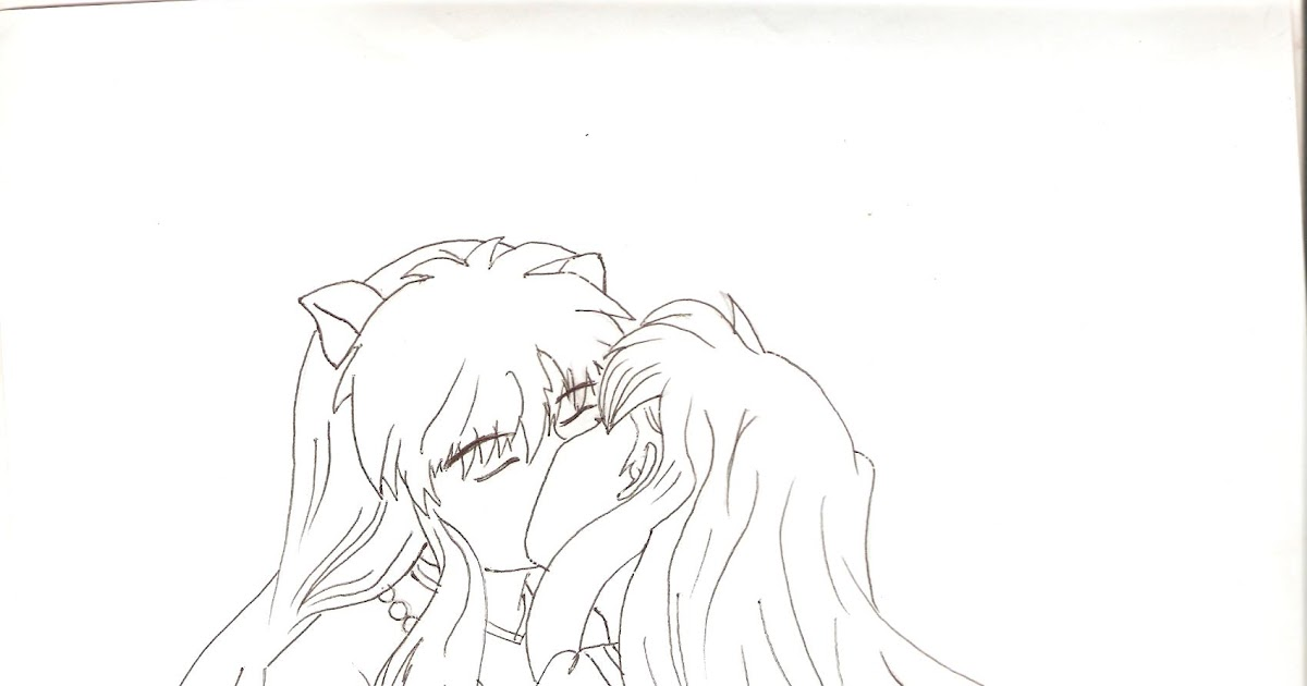best Inuyasha Y Kagome Beso Para Colorear image collection