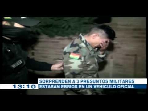 Tres militares uniformados fueron sorprendidos en completo estado de ebriedad