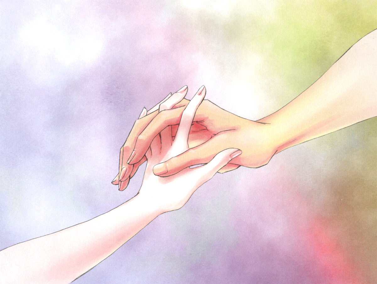 Animated couple holding hands photo8
