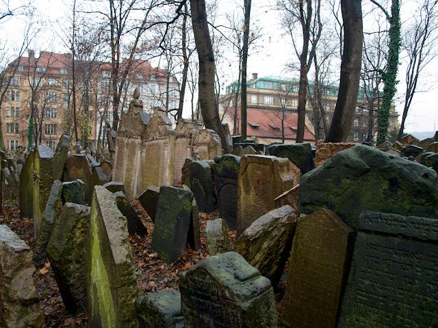 Imagen General del Cementerio Judio de Praga