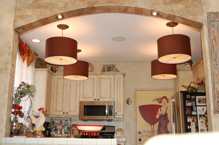 Chocolate Drum Shade Lighting