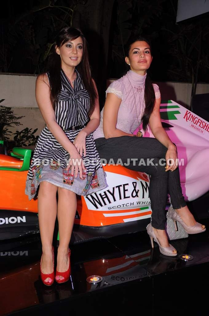 Jacqueline Fernandez and Minissha Lamba at Force India F1 Octane Night