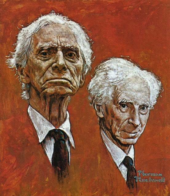 Bertrand Russell by Norman Rockwell