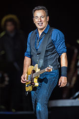 Bruce Springsteen performing at Roskilde Festival 2012. Photo credit: Bill Ebbesen.