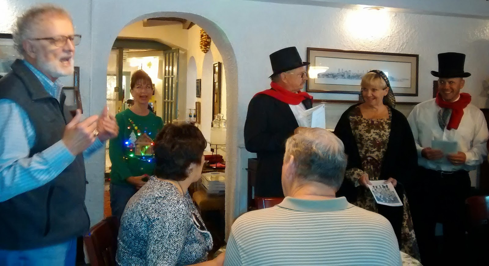 Holiday Singers ... Thanks to the Old Town Trolley (the GREEN AND ORANGE trolley) 4 Intro St. Francis Inn St. Augustine Bed and Breakfast