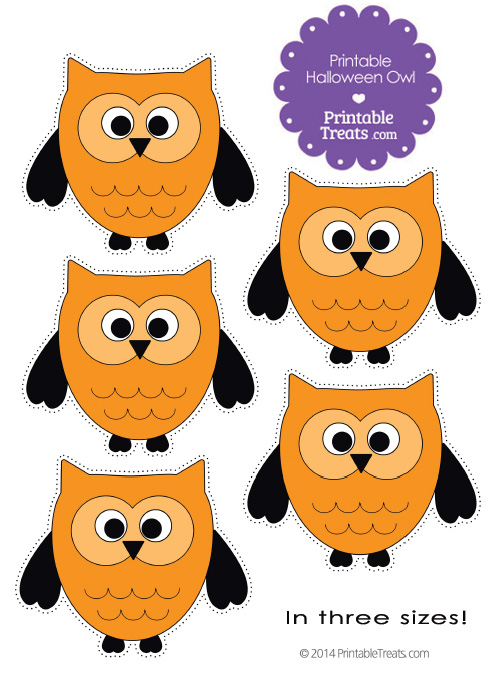 free printable halloween owl