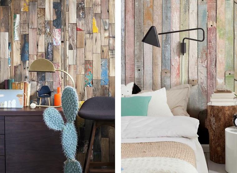 Revestimientos de madera reciclada inspiraci n espacios - Revestir pared con madera ...