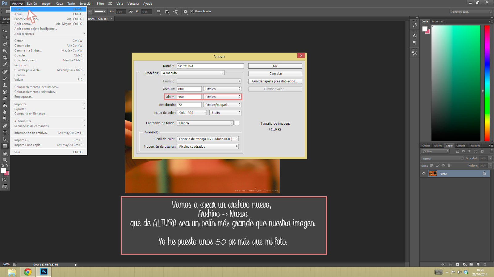 Tutorial poner washitape con photoshop