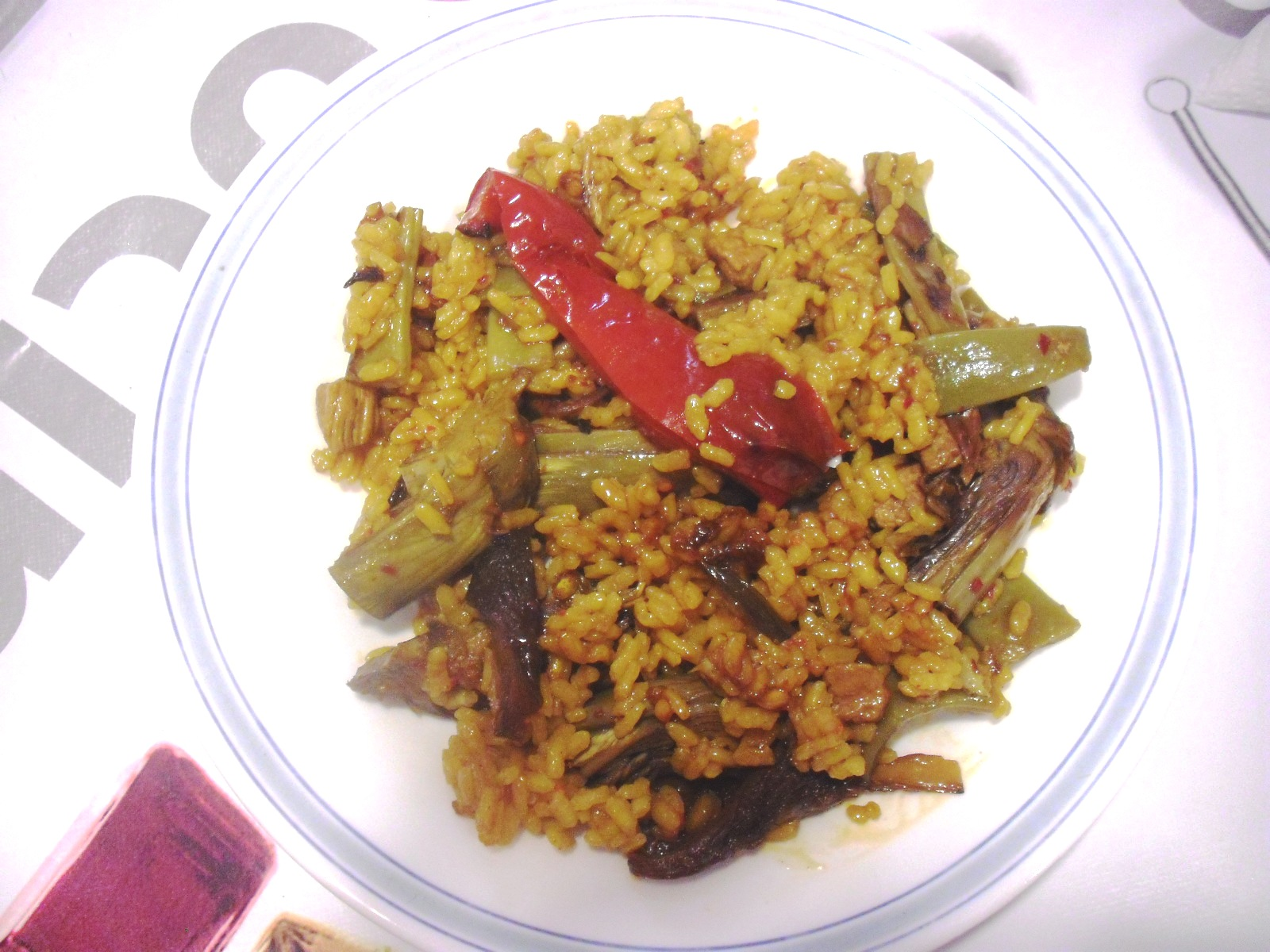 Arroz con magro y verduritas bon dinar chiquetes - Cocina con sara paella ...