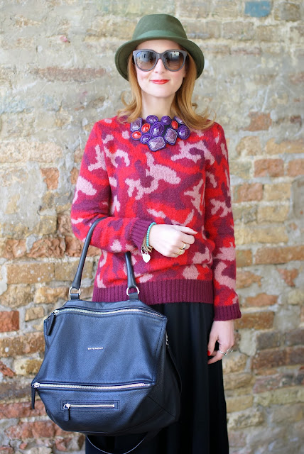Urban country look, Givenchy Pandora bag, green fedora, Fashion and Cookies, fashion blogger