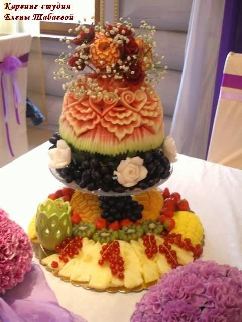 карвинг-композиция на сиреневую свадьбу