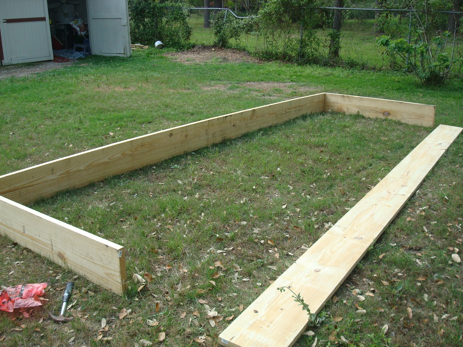 At The Hatley House How to build a garden Box